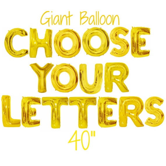 giant letter balloon 40 balloon big balloon letters With where can i buy balloon letters
