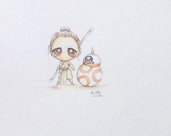 Custom Chibi watercolor illustrations
