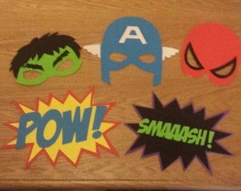 Photobooth Superhero Masks