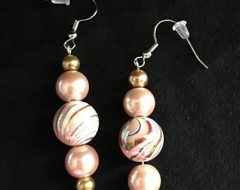 Pink Pearl Earrings