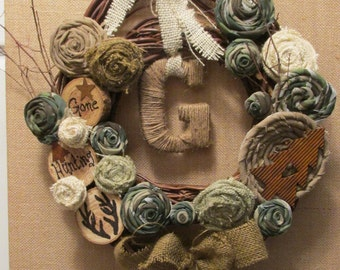 Camouflage Grapevine Deer Hunting Wreath