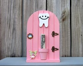Fairy Door, Tooth Fairy Door, Pink, Tooth Holder, Tooth Fairy Money, Painted Wood, Childs Gift