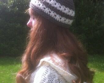 Aran Shell Stripe Hat