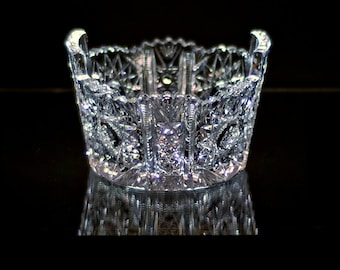 24% Lead Crystal, Hand Cut Candy Dish
