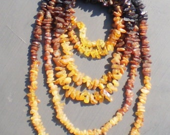 Adult Raw Reverse Ombre Genuine Baltic Amber Strands - Hand Made with Love