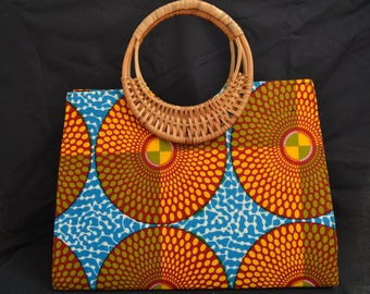 Large African Print purse