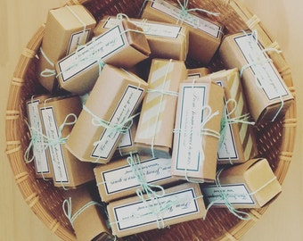 All Natural Handmade Cold-Process Soap for Special Order // 100% Natural // Vegan // Artisan Soap // Custom Soap Favors 30 pcs.