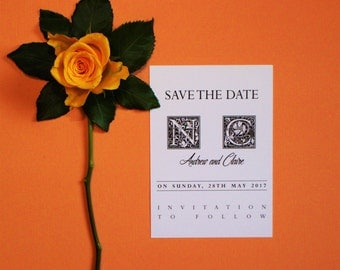 Personalised Wedding Adam and Eve Save the Date Invitations