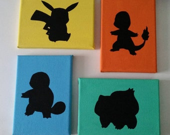 Pokemon Silhouette Canvas