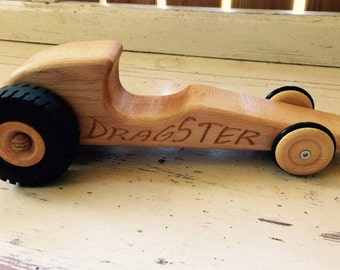 Wooden car mini DRAGSTER