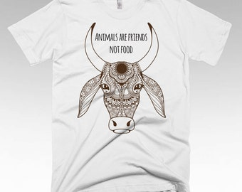 Animals are Friends, Vegan shirt, Vegan Clothing, Vegan Gifts, Vegan t shirts