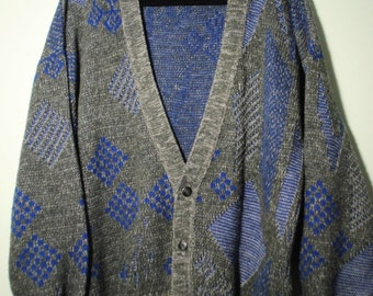 Diamond Print Knit Cardigan