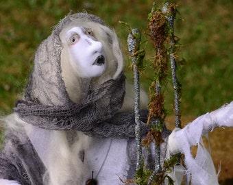 Doll, OOAK Art Doll, Mythology Doll, Ghost Art, Gothic Art
