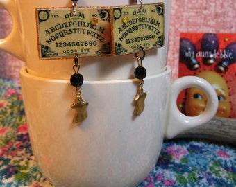 Ouija Board Earrings Seance Ghosts Kitsch