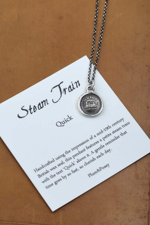 Steam Train - Wax Seal Necklace - Quick - 187