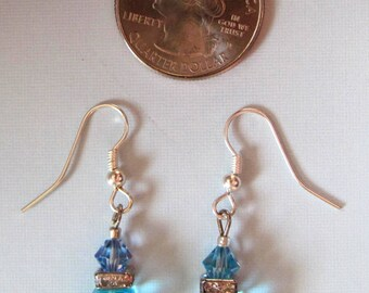 Baby Blue Pierced Drop Earrings