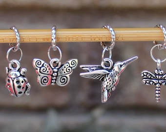 A Day In The Garden Knitting Stitch Markers (Set of 6)
