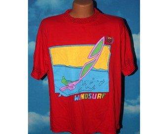Windsurf Surf Zone Red Tshirt Vintage 1980s