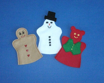 Holiday Puppet Set Gingerbread Man and Friends