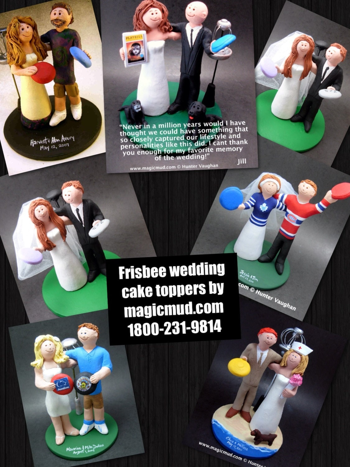 disc golf wedding cake topper disc golf wedding cake toppers custom made frisbee golf 13540