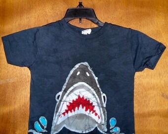 Kids Handmade Batik Ocean Shark T-Shirt