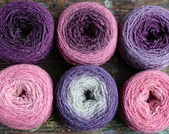 Pure wool knitting yarn - 6 x 31 g