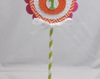 Little Pumpkin 1st Birthday Smash Cake Topper- Baby Girl