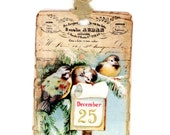 Winter Birds Holiday Tags , Christmas Gift Tags , December 25 , Vintage Christmas , Cottage , Woodland , Rustic