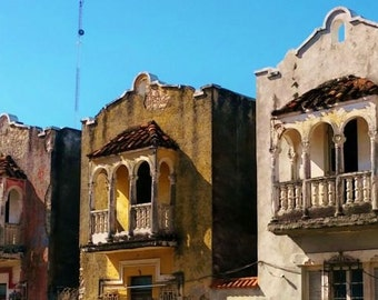 The Painted Ladies of the Paseo de Montejo. Spanish Colonial Architecture in Mexico.