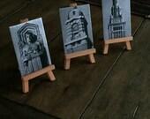 Cleveland Landmark Metal Art mini easel set of three