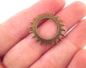 10 22mm Brass Gear Component, Watch Gear, Clock Gear, Steampunk Gear, Metal Gear, Cogs