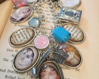 Jane Austen Charm Bracelet
