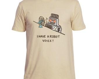 Funny Mens TShirt Robot TShirt Toy Robot Shirt Robot Voice Retro TShirt Funny Shirt Gift for Him