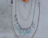 Cowgirl Necklace No.1, Turquoise, Silver, Leather