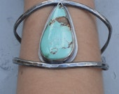 Tahoe Cuff, Turquoise, Sterling Silver