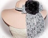 Monogrammed Pale Pink Floppy Hat Bride, Misty Rose, Bridal Shower, Bridal Party, Honeymoon or Bridesmaids, Sunbonnet, Derby, Cup Race