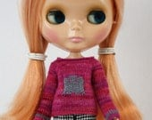 Blythe doll Ghostie Sweater knitting PATTERN - cute ghost long sleeve sweater - instant download - permission to sell finished items