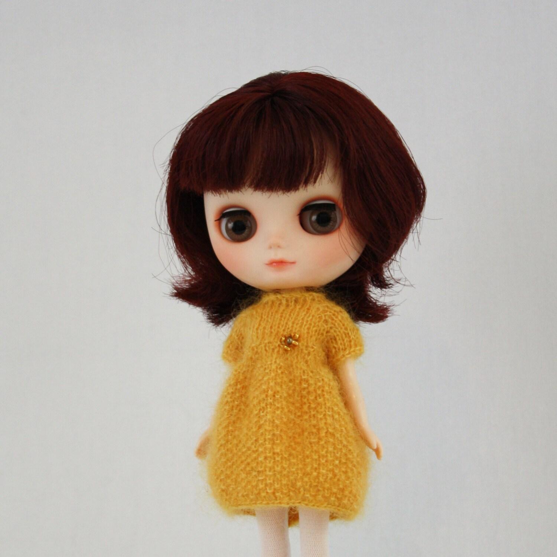 Middie Blythe doll Sharon Dress knitting PATTERN mohair soft