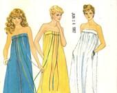 Butterick 4413 Strapless Short or Long Summer Dress Resort Wear FAST & EASY