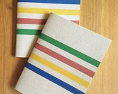 Cozy Cabin Pocket Size Notebook. Wonderful Pendleton-Inspired striped journal with primary colors. Great gift and stocking stuffer