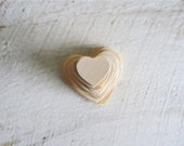 30 Natural Unfinished Wood Hearts