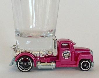 The ORIGINAL Hot Shot, Turbine Time, Semi Cab, Tractor Cab, Truck, Pink, Shot Glass, Hot Wheel car