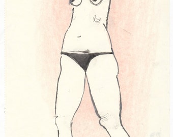 Pink Summertime #3 (original drawing, 2016)