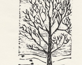 The Cottonwood Trail linocut - Limited Edition