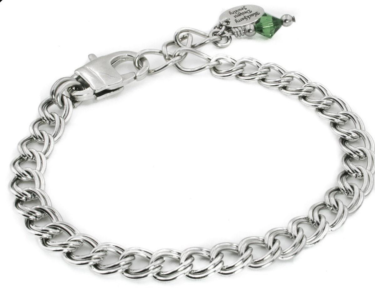 stainless steel charm bracelet starter charm bracelet