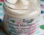 Lemon Meringue Pie 2 oz Mini Creme Fraiche Whipped Soap Scrub Trial Sample Size