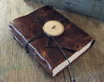 "Leather Journal  ""Going to the woods is going home."" - John Muir .  Nature, Outdoorsman, Outdoorswoman . handmade handbound (320pgs)"