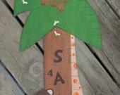 JUNGLE Wood Growth Chart GIRAFFE - Original Hand Painted Wood Keepsake 6' High - Boy/Girl/TWINS