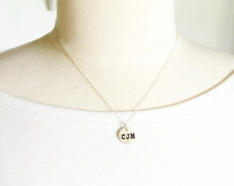 Initial Necklace - Monogram or Initial Jewelry- Christmas Gift for Daughter - three initials - sterling personalized jewelry - Gift for Her