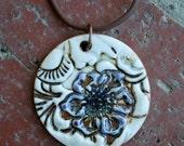 Hidden Flower Porcelain Pendant
